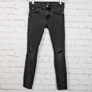 PacSun Men Faded Black Ripped Skinniest Jean 30x32